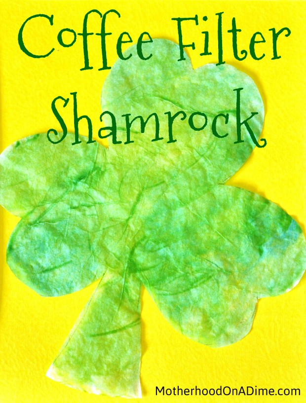 coffee filter shamrock