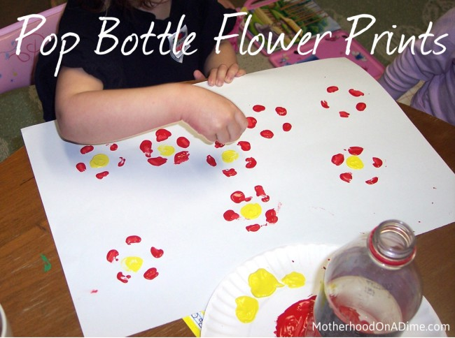 Soda Pop Bottle Print Flowers