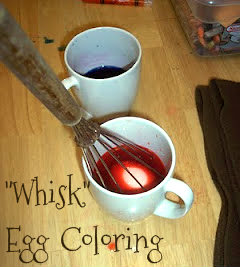 Easter Egg Coloring (With a Whisk)