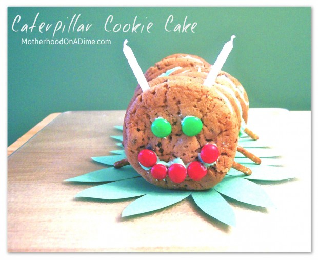 caterpillar cookie cake