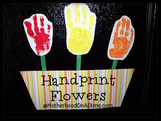 Mother's Day Handprint Flower Gift Idea