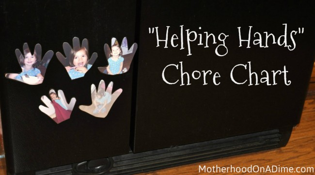 helping hands chore chart for preschoolers