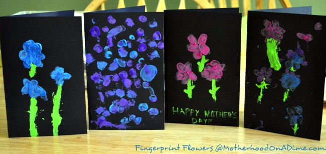 Last Minute Mother's Day Card: Fingerprint Flower