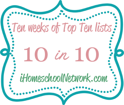 10 in 10 ten weeks of top ten lists