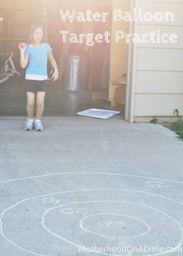 outdoor fun with the kids: Water Balloon Target Practice