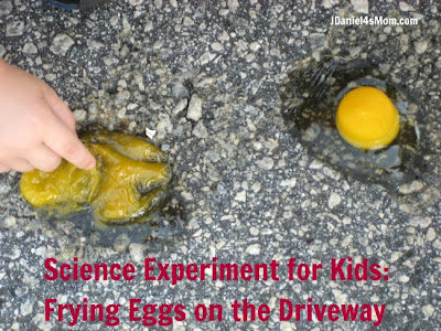 Science Experiment:  Frying Eggs on the Driveway