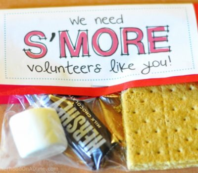 S'mores Kit:  Volunteer Appreciation Gift (Free Printable)