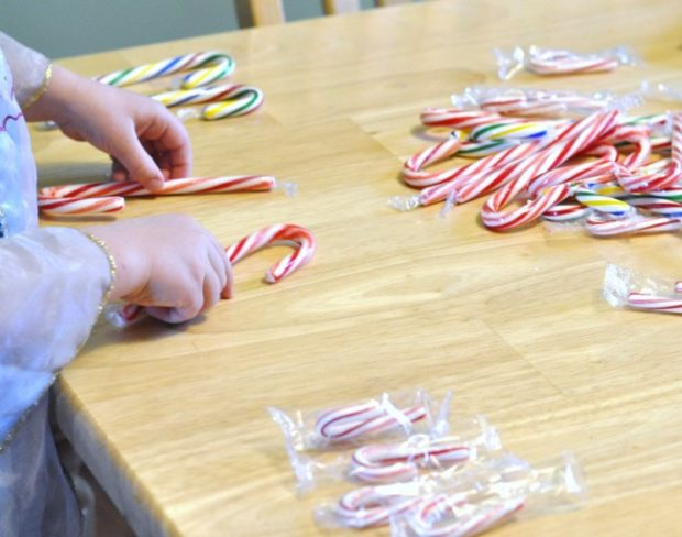 candy cane math preschool