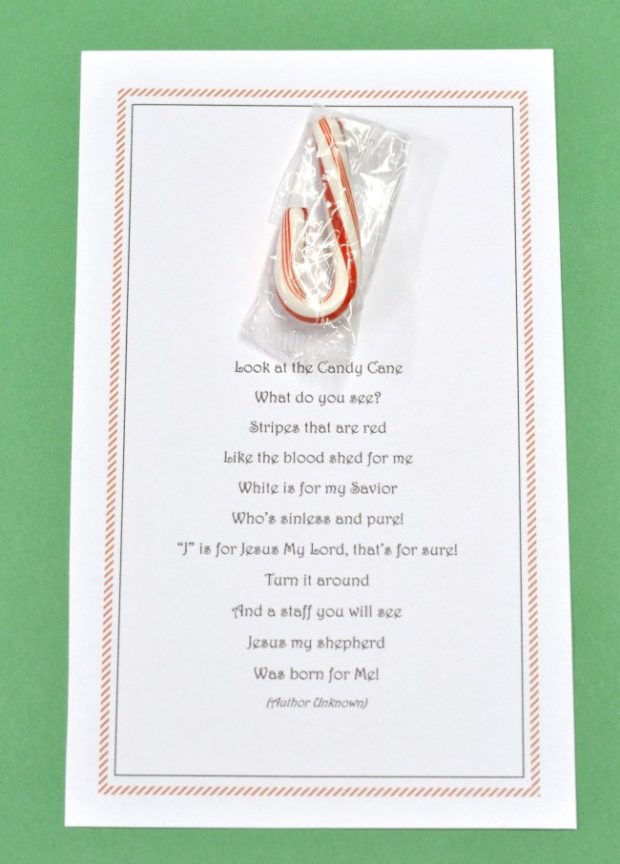 It's just an image of Inventive Candy Cane Poem Printable