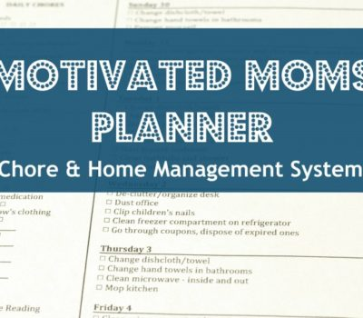 Motivated Moms Planner:  One of My Top Home Management Helps