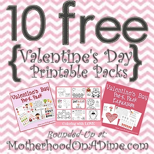 10 Free Valentines Day Printables