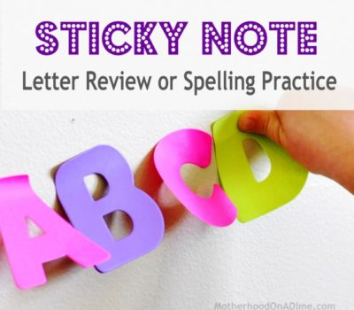 Sticky Note Letter or Spelling Review Idea