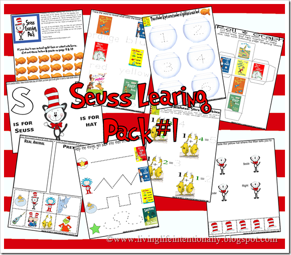 seuss learning pack 1