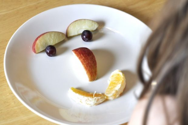 face out of fruit