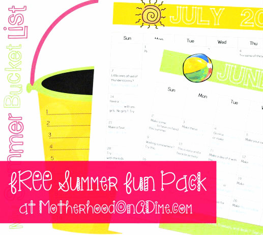 Free Summer Fun Pack