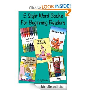 five sight word books for beginning readers