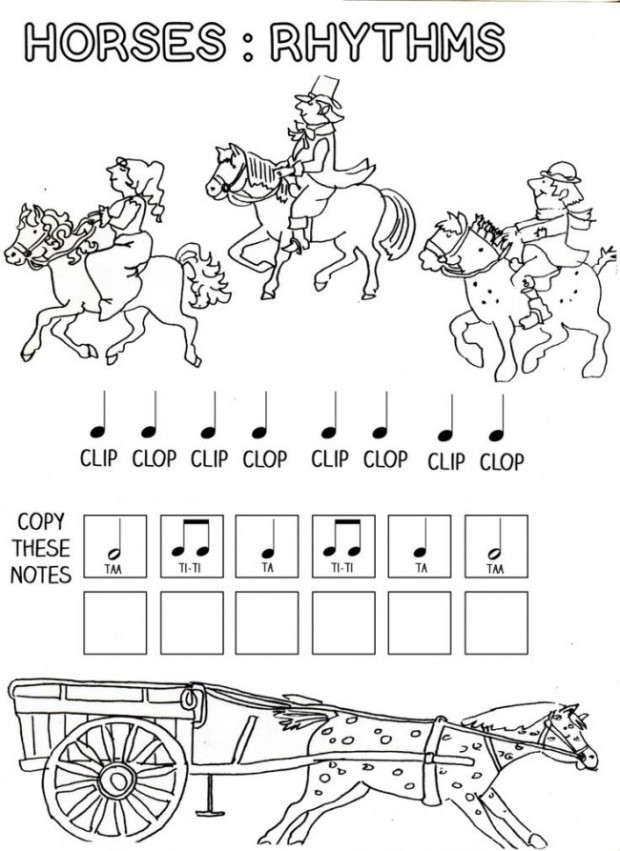rhythm instrument coloring pages - photo#9