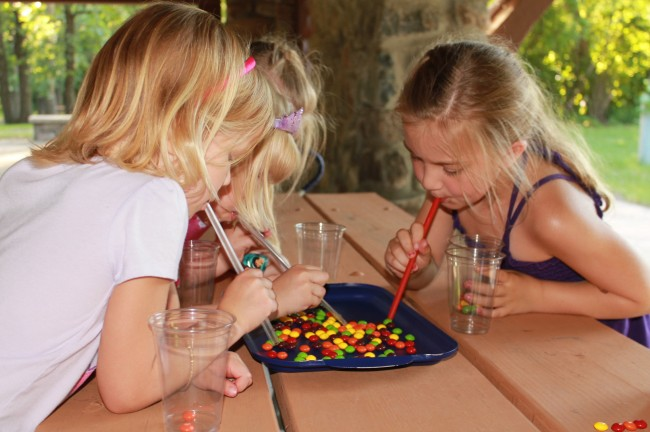 the skittles vacuum party game kids activities