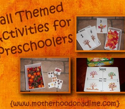 Fall Themed Activities for Preschoolers