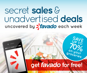 FREE Grocery Store App:  Get Coupons & Local Store Match-Ups for FREE with Favado