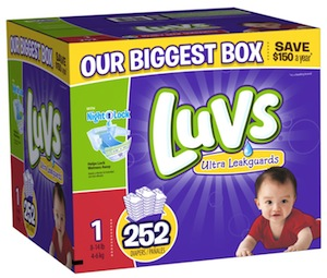 Amazon Family:  HUGE Boxes of Luvs Diapers for $13.58 Shipped (As Low As $0.05 Each)