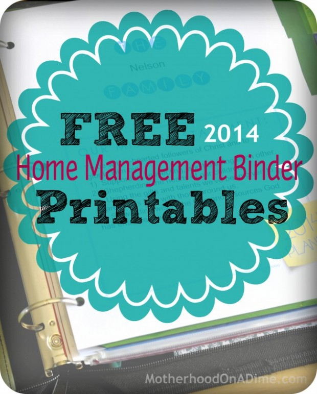 Free Home Management Binder Printables