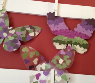 Contact Paper Butterfly Craft