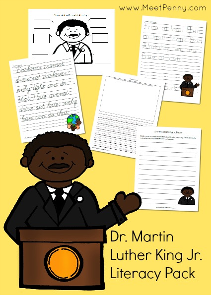 Martin Luther King, Jr. Printable Pack and Lesson Plan Ideas