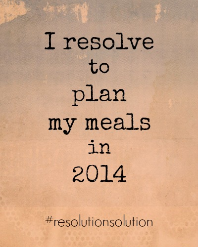 Resolution Solution Plan My Meals