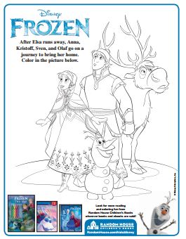 Frozen Printable Coloring Page