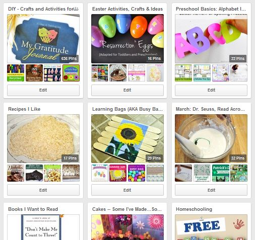 Pinterest Preschool Boards