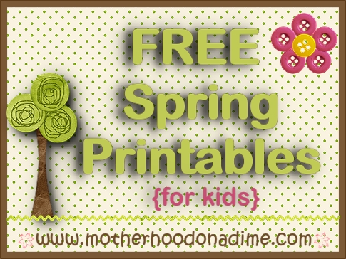 10 free spring printable packs for kids 300 pages motherhood on - Kids Free Printable Activities