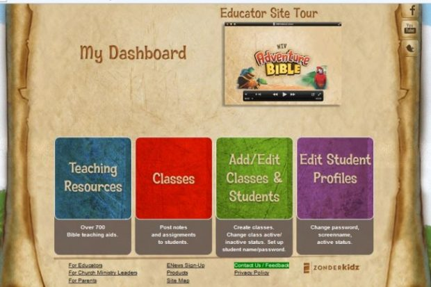 Educator at ZonderKidz Bible Game Site