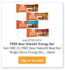 Bear Naked Energy Bar