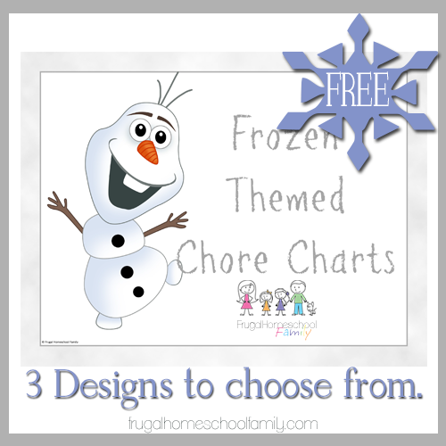Frozen Theme Printable Chore Charts for Kids