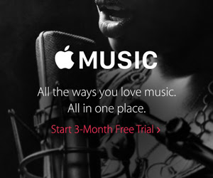 3 month trial to Apple Music