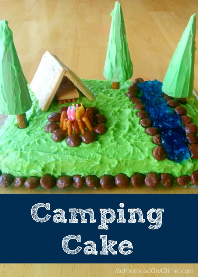 Camping Themed Sheet Cake