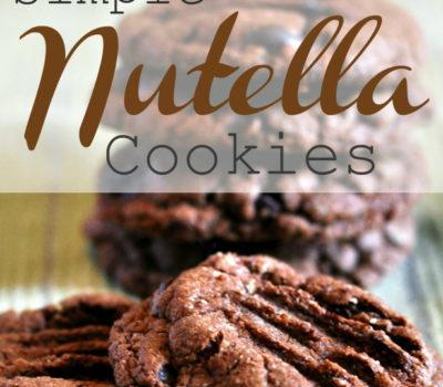 Easy Nutella Cookie Recipe (4 Ingredients)