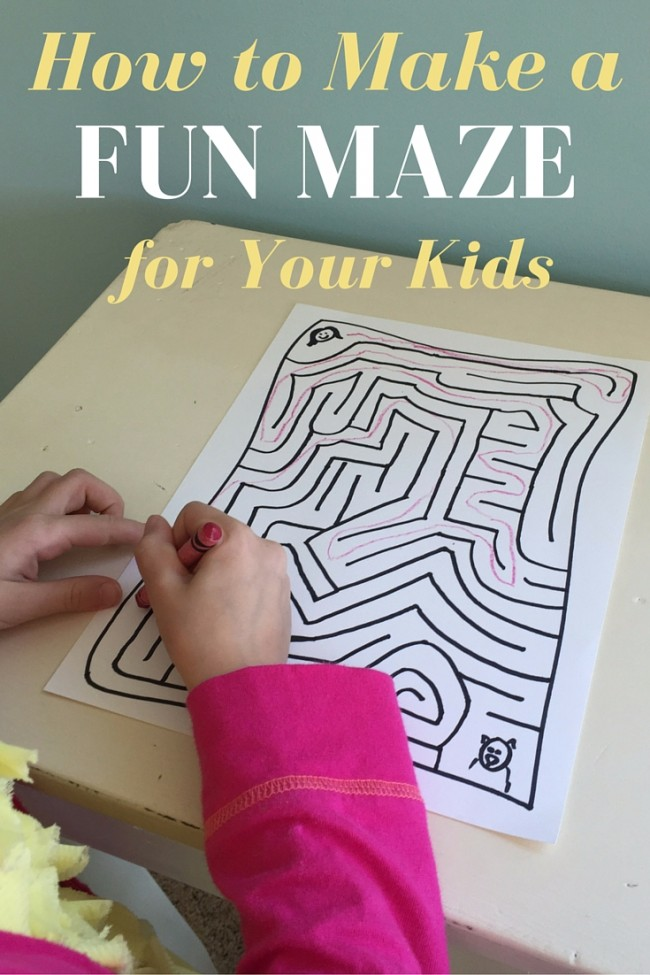 How to Make a Fun Maze For Your Kids - Kids Activities | Saving ...