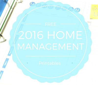 FREE Home Management Binder Printables for 2016