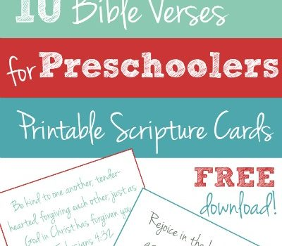 10 Bible Verses to Teach Your Preschooler