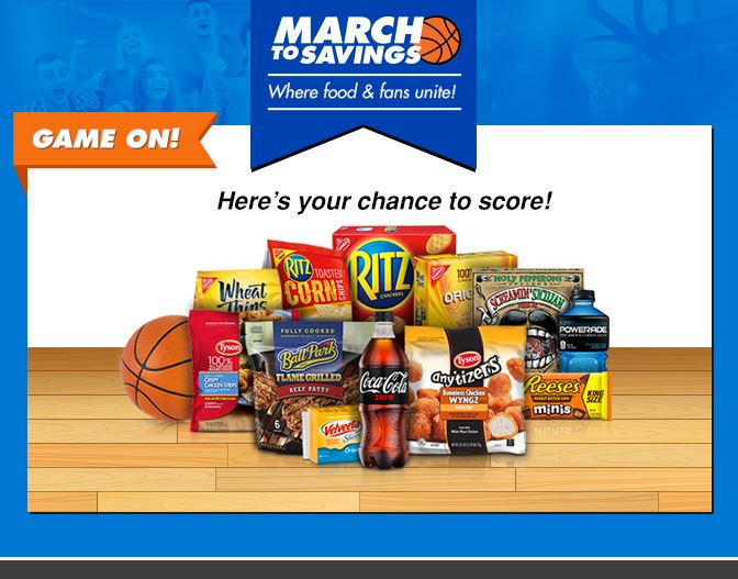 March to Savings Game at Dillons and Kroger stores