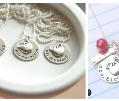 Gift Idea:  Personalized Teacher Necklace