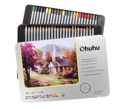 Highly-Rated Ohuhu Colored Pencils Set in Tin Case (72 Ct.)