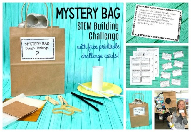 Mystery bag stem building challenge free printable for Free money to build a house