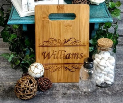 Gift Idea: Personalized Bamboo Cutting Board