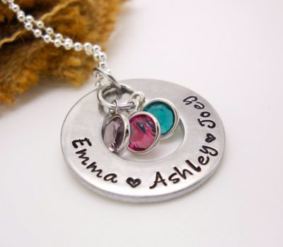 Small Business Saturday: Personalized Hand Stamped Family Necklace – $13.99 Shipped