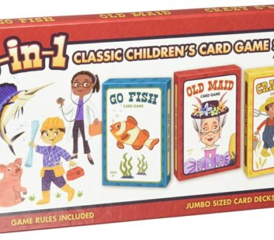 3-in-1 Classic Children's Card Game Set (Jumbo Cards) for $2.55