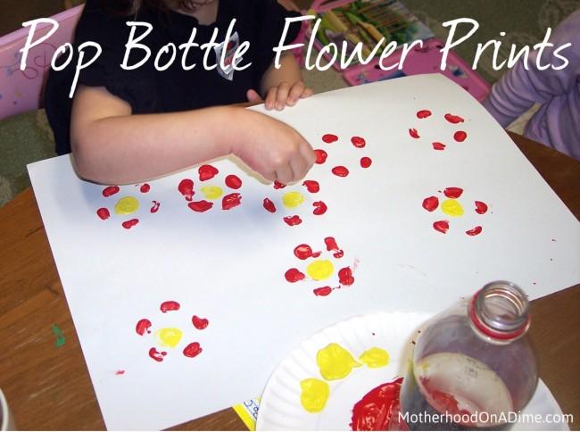 soda pop bottle print flowers