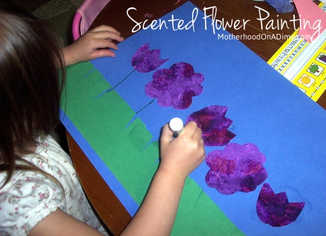painting flowers with jello